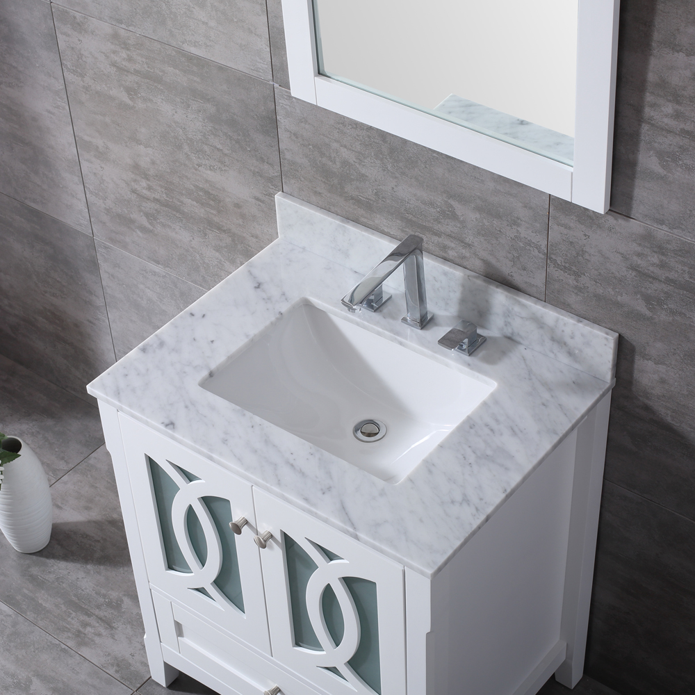 30 Inch White Bathroom Vanity Laguna Milan Gallery